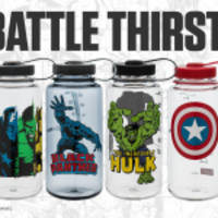 super heroes hydrate: nalgene outdoor announces release of water bottles featuring marvel super heroes