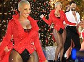 amber rose shows off her famous curves as she returns to dancing with the stars with maksim chmerkovskiy