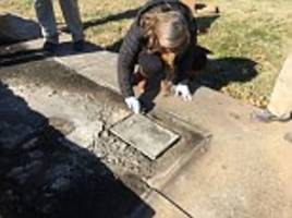 rotten confederate history: time capsule buried in 1895 is unearthed but it's contents - including jefferson davis' cigars and a sketch of robert e. lee - have turned to mush