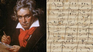 'beethoven' musical score row between sotheby's and expert