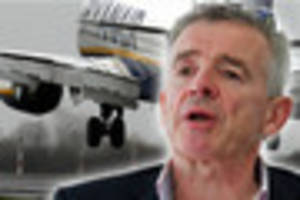ryanair flights from newquay could soon be free - if airline boss...