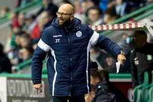 queen of the south caretaker jim thomson angry at his side's defending in 4-0 loss at hibs