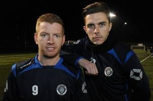 stranraer striker malcolm tells east kilbride skipper not to cry like a girl if his side win scottish cup tie
