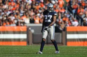 Cowboys' J.J. Wilcox Lays Out Maurice Harris With Big Hit (Video)