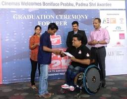 padma shri awardee and quadriplegic tennis athlete boniface prabhu felicitates differently abled students in a 'veer' graduation ceremony