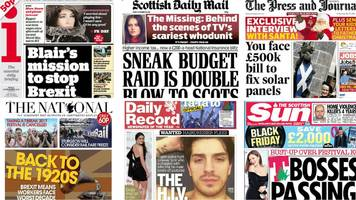 Scotland's papers: Blair's Brexit mission and T's break