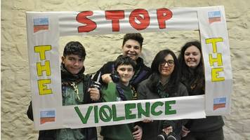 girl guides involve boys in battle against gender violence