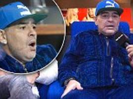 diego maradona touches down in croatia to cheer on argentina in the davis cup final