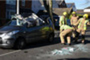 casualty cut free from wreckage after a17 crash