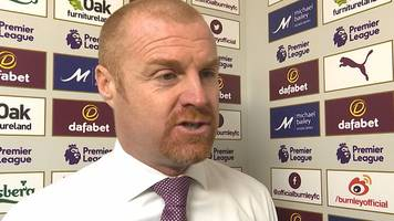 burnley 1-2 manchester city: sean dyche 'amazed' not to get penalty