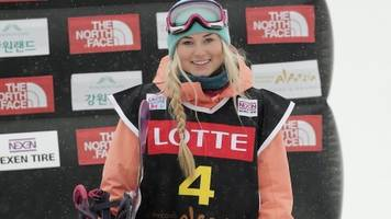 katie ormerod: gb snowboarder claims bronze at big air world cup