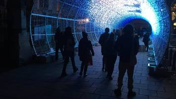 norwich video tunnel of light: city christmas attraction