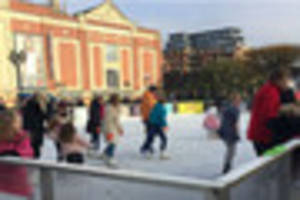 IT'S OPEN! Skates are on as Lincoln ice rink returns to city