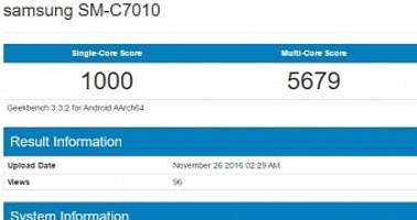 Samsung Galaxy C7 Pro Appears in Benchmark with Specs in Tow