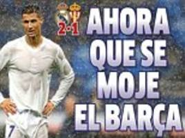 'Now let's drench Barcelona'... Real Madrid sing in rain to go six points clear as Lionel Messi and Co face Real Sociedad 'final' ahead of El Clasico