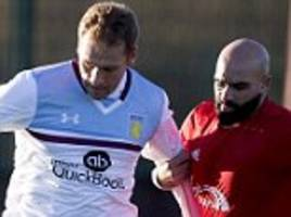 aston villa settle grudge match with virgin trains after being trolled on twitter as stiliyan petrov plays in win