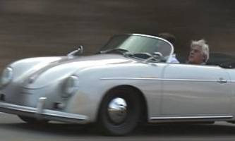 jay leno hits the canyons in subaru-engined 1957 porsche 356 speedster replica