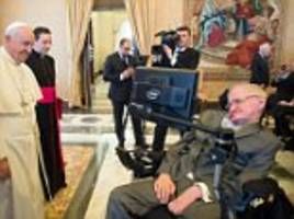 pope francis praises stephen hawking for his brilliant work at vatican meeting