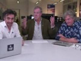 the grand tour stars jeremy clarkson, richard hammond and james may launch app