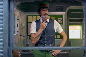 wes anderson directs h&m christmas commercial starring adrien brody (video)