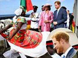 prince harry arrives in grenada on day nine of his caribbean tour