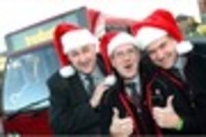 Trent Barton and Arriva announce Christmas and New Year  2016 bus...