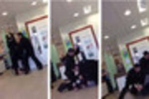 Video shows police beat man into submission in front of shocked...