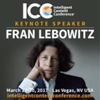 author fran lebowitz to headline intelligent content conference 2017