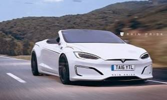 Tesla Model S Convertible Rendered, Could Make Up For the Tesla Roadster Flop