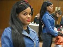 new york rapper azealia banks, 25, appears in court to face bouncer breast biting charges