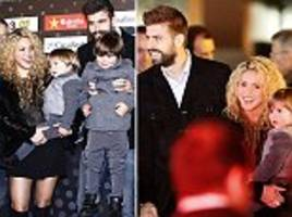 Barcelona star Gerard Pique joined by wife Shakira as he picks up award