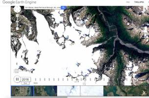 google earth's timelapse update illustrates 30 years of climate change