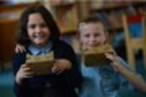 google takes pupils at pirehill first school on virtual reality...
