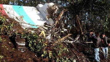 Aftermath of Colombia plane crash