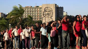 will grant: cubans say goodbye to castro