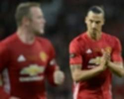 team news: rooney & zlatan start in strong united side to face west ham