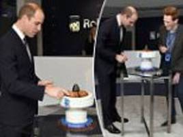 prince william reveals he's a bake off fan as he tells contestant andrew he 'should have won'
