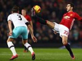 manchester united 4-1 west ham - five things we learned: jose mourinho simply cannot leave out henrikh mkhitaryan any longer and anthony martial has found his mojo
