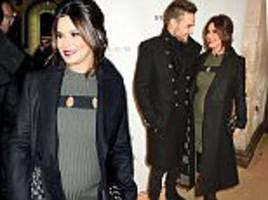 pregnant cheryl 'confirms baby news to friends and family' after revealing bump at concert