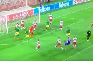 Watch: South African GK scores last-gasp equalizer on bicycle kick