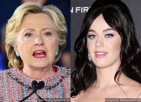 Hillary Clinton Presents Katy Perry With Award During Surprise Appearance at UNICEF Gala