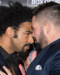 Snapped: David Haye and Tony Bellew come to blows in press conference