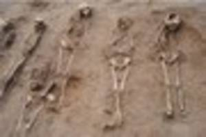 48 skeletons (including 27 children) found in black death plague...