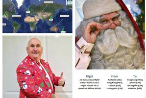 Scot set to race Santa around the world in bid to break record for longest Christmas day