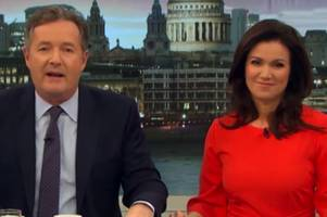 'She's about to give birth!' Piers Morgan and Susanna Reid congratulate 'pregnant' pal Cheryl