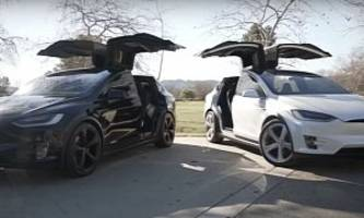 Tesla Model X Sitting On 22-inch MX5 Wheels from Evannex Is Not That Crazy