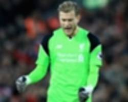 liverpool keeper karius rules man utd out of title race