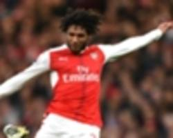 wenger played elneny against southampton despite him being sick pre-game