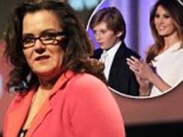Rosie O'Donnell says she is 'sorry for the pain' her Barron Trump autism comments caused Melania in very public apology on Twitter (then makes her account private)