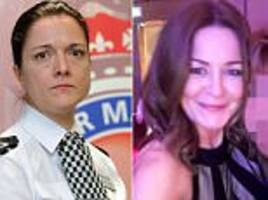 Drunken top female cop who 'mocked superintendent's boob job' remains a 'role model'